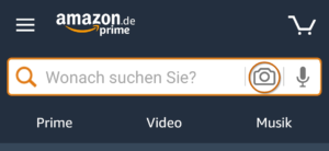 Amazon Transparency Kamerasymbol